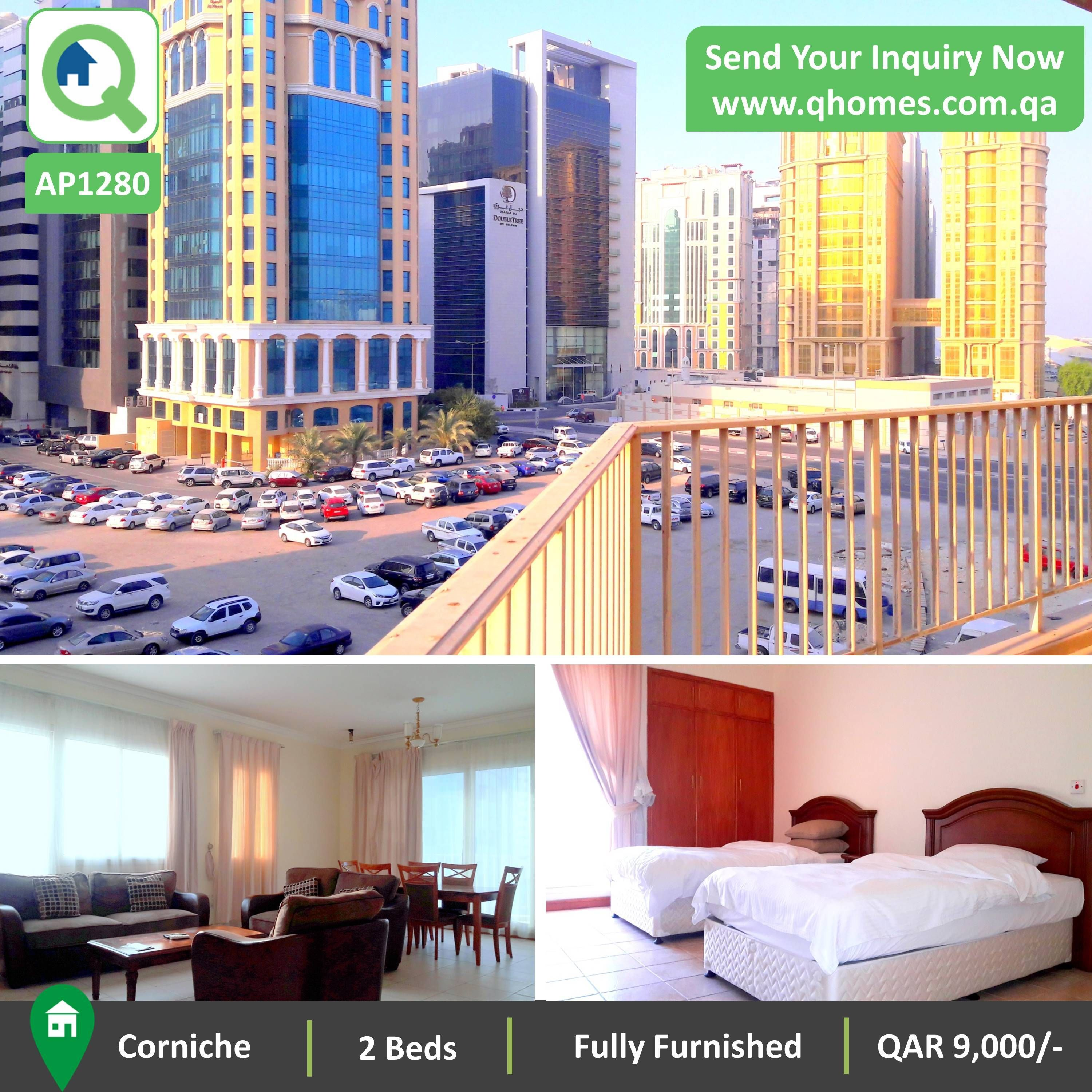 Apartment For Rent In Qatar: Fully Furnished 2 Bedrooms