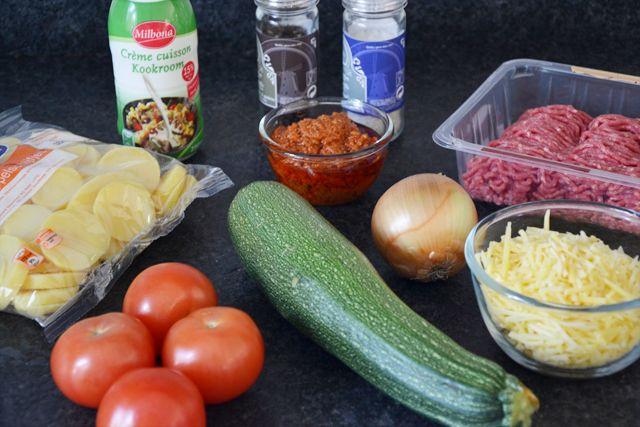 Ovenschotel Courgette en Tomaat 1