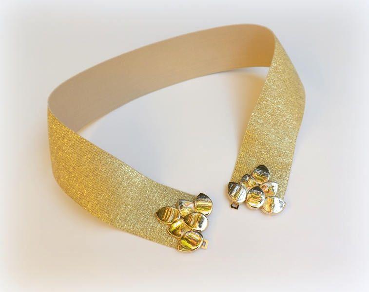 Gold glitter elastic waist belt. Golf leaf belt. Gold sparkly belt. Dress belt. Bridal belt. Evening belt. Golden belt. Elegant belt. by MissLaceWedding on Etsy