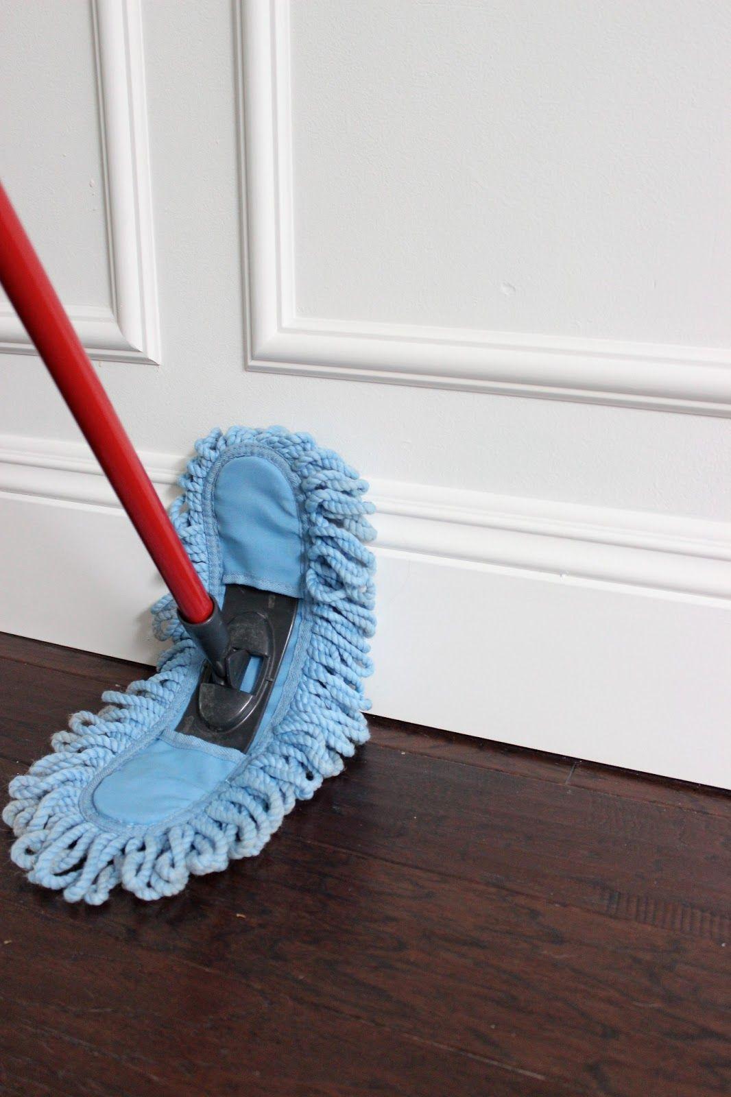 broom to clean hardwood floors