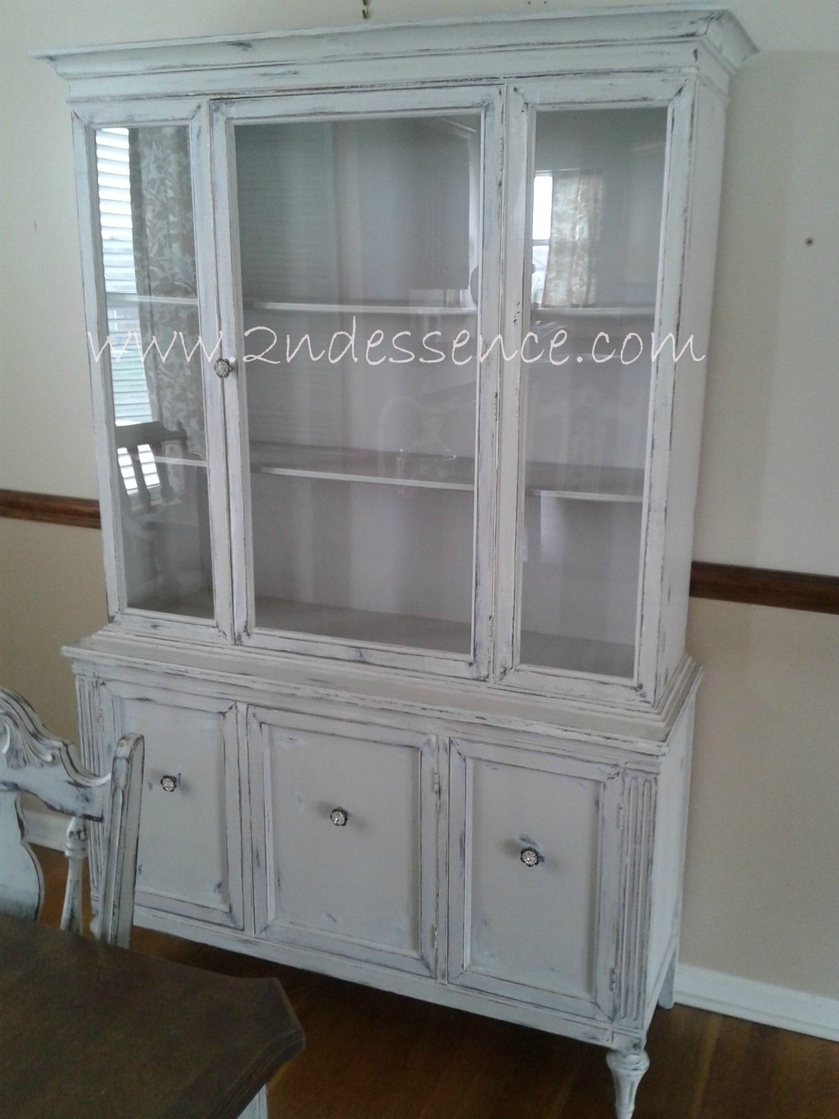 shabby chic antique china cabinet cotton grey 2nd essence portfolio antique china cabinets. Black Bedroom Furniture Sets. Home Design Ideas