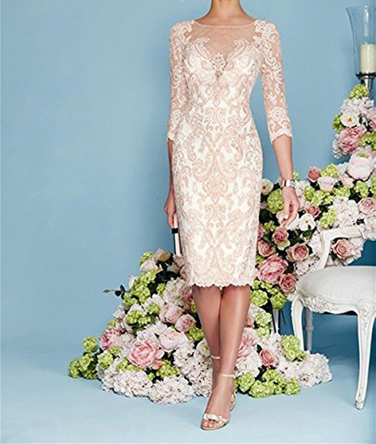 WDH Dress Light Pink Mother of The Bride Dress with Jacket (14 ...