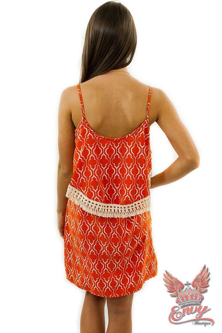 orange appropriate dress