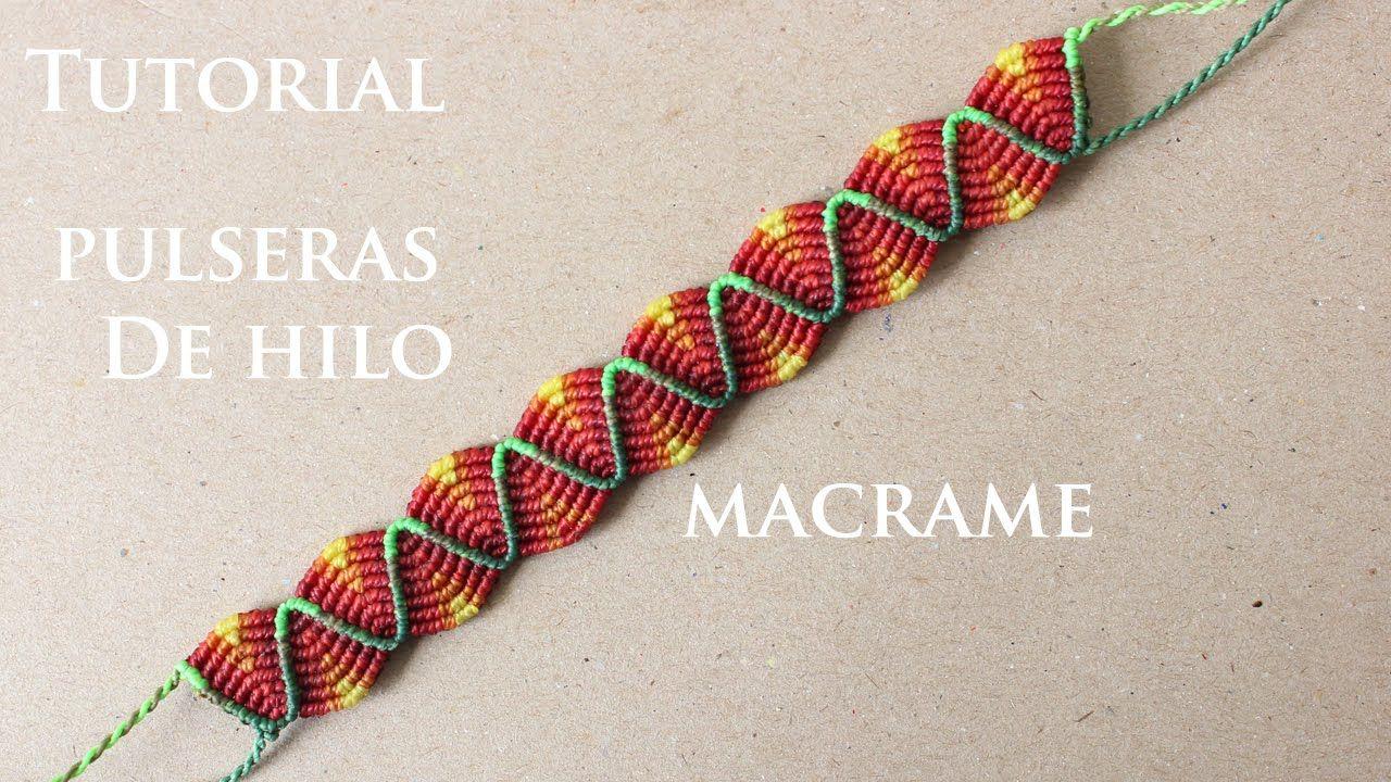 pulseras de hilo anchas faciles de hacer friendship bracelets macrame videos pinterest pulseras de hilo hilo y pulseras