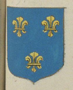 Le Corps des Oficiers du Grenier a Sel de Saumur. Porte : d'azur, à trois fleurs de lys d'or, deux et une | N° 391 > Saumur