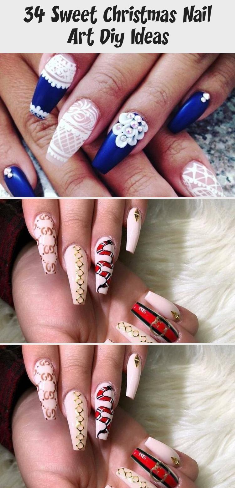 34 Sweet Christmas Nail Art Diy Ideas In 2020 Summer Nails Nail Art Diy Christmas Nails