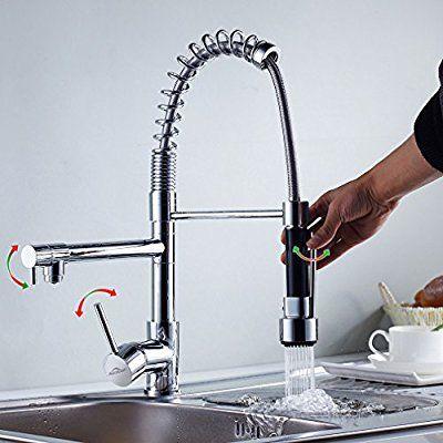 Auralum® Mordern Einhebel Waschtischarmatur Spültischarmaturen mit - wasserhahn für küchenspüle