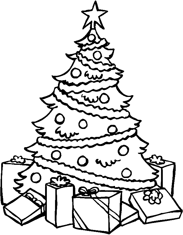 Christmas Tree Coloring Page Crafts Pinterest