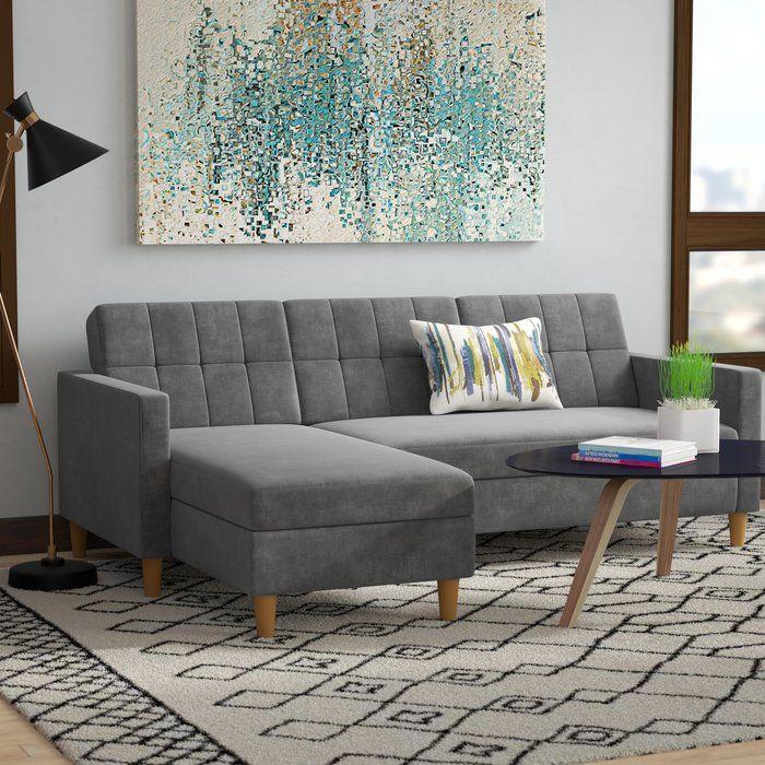 Zipcode Design Hephzibah Reversible Sleeper Sectional Reviews Wayfair Sleeper Sectional Furniture Apartment Size Furniture