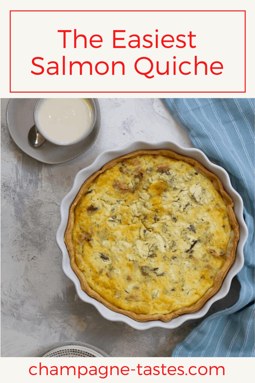 Easy Salmon Quiche Recipe In 2020 Canned Salmon Recipes Quiche Salmon Quiche