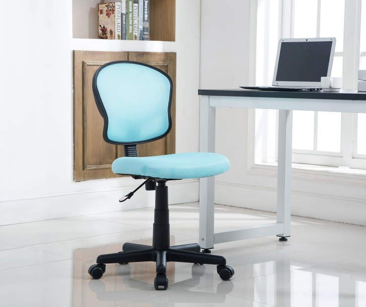 Just Home Aqua Mesh Swivel Desk Chair (With Images