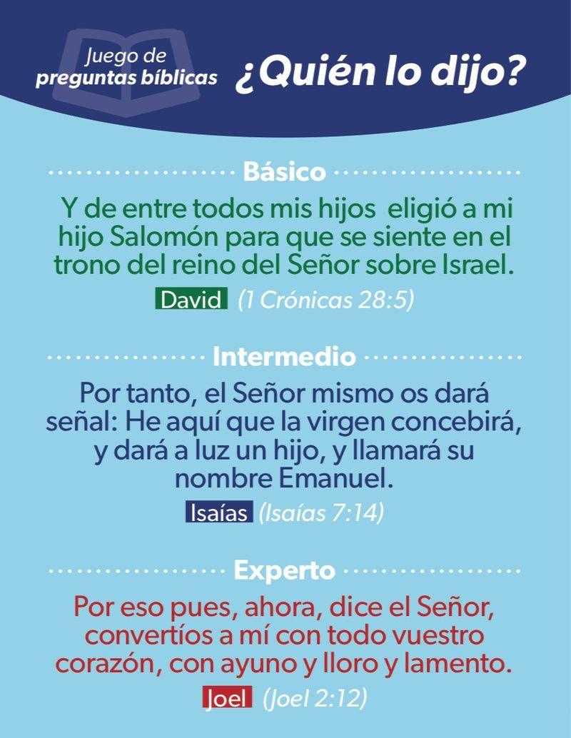 Quien Lo Dijo Juego De Preguntas Biblicas Luciano S Gifts 9780511920042 Juego De Preguntas Preguntas Y Respuestas Biblicas Juegos Biblicos Para Jovenes