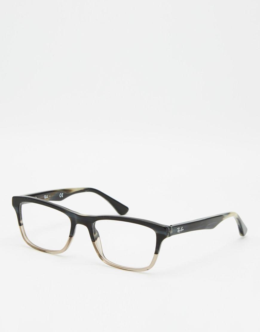 Brillen von Ray-Ban zweifarbige, eckige Rahmen geformte Nasenpolster ...