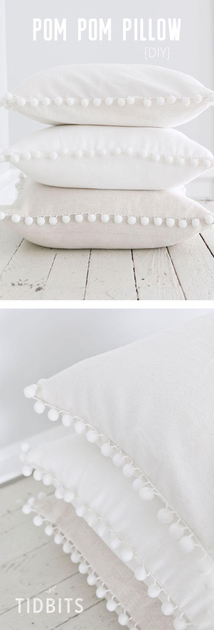 DIY Pom Pom Pillow images