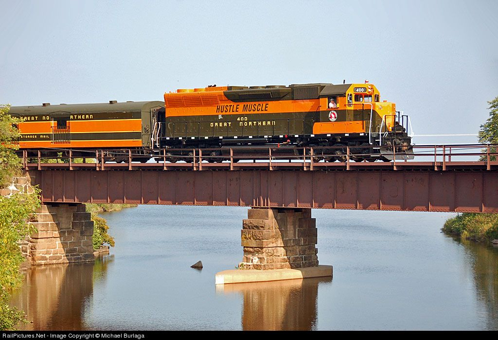 RailPictures.Net Photo: GN 400 Great Northern EMD SD45 at Knife River, Minnesota by Michael Burlaga