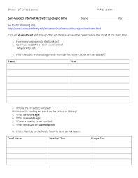 Geologic Time Worksheet 8th Grade Science Time Worksheets Earth Science