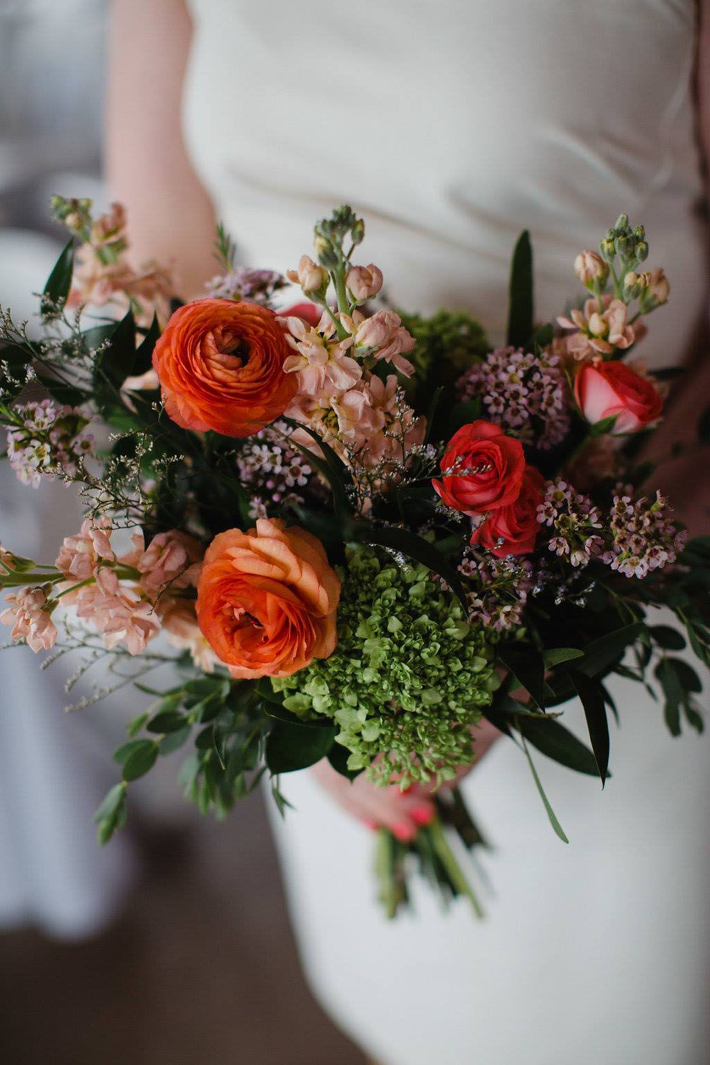 Sweet And Colorful Bridal Bouquet In 2020 Orange Ranunculus Colorful Bridal Bouquet Orange Wedding Flowers