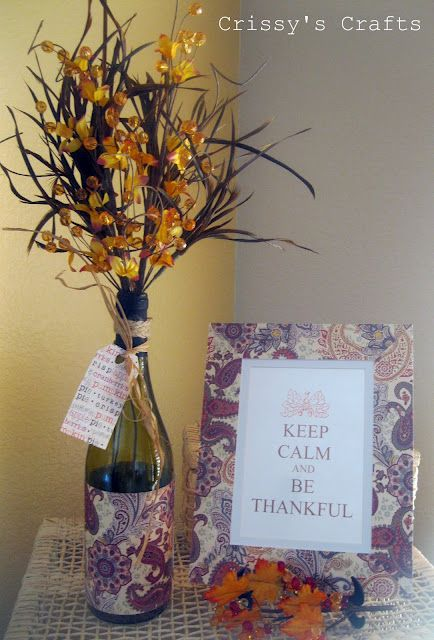 EASY DIY!   KEEP CALM and BE THANKFUL