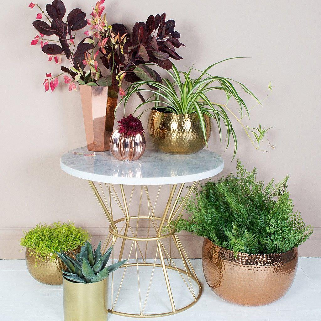 Hammered Copper Plant Pots | Planters | Audenza