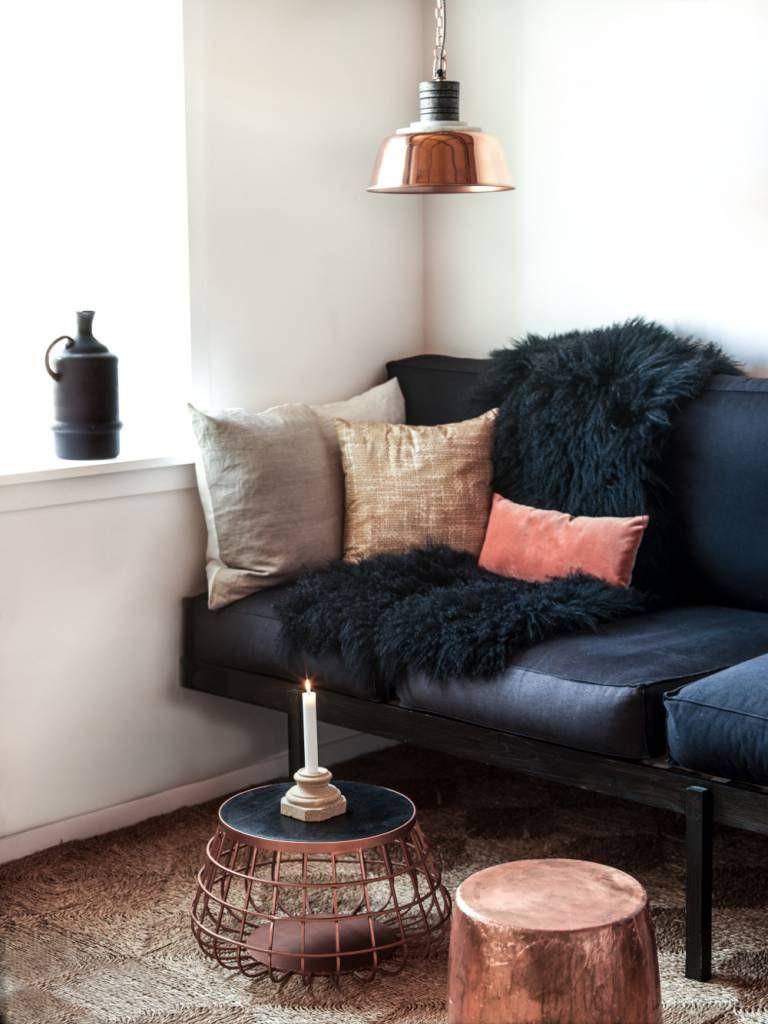 Madam Stoltz Pendelleuchte Mit Kupfer Lampenschirm Von Madam Stoltz Home Decor Home Living Room