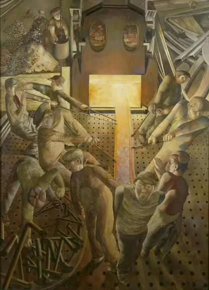 'Shipbuilding on the Clyde: The Furnaces', by Stanley Spencer. 1946.