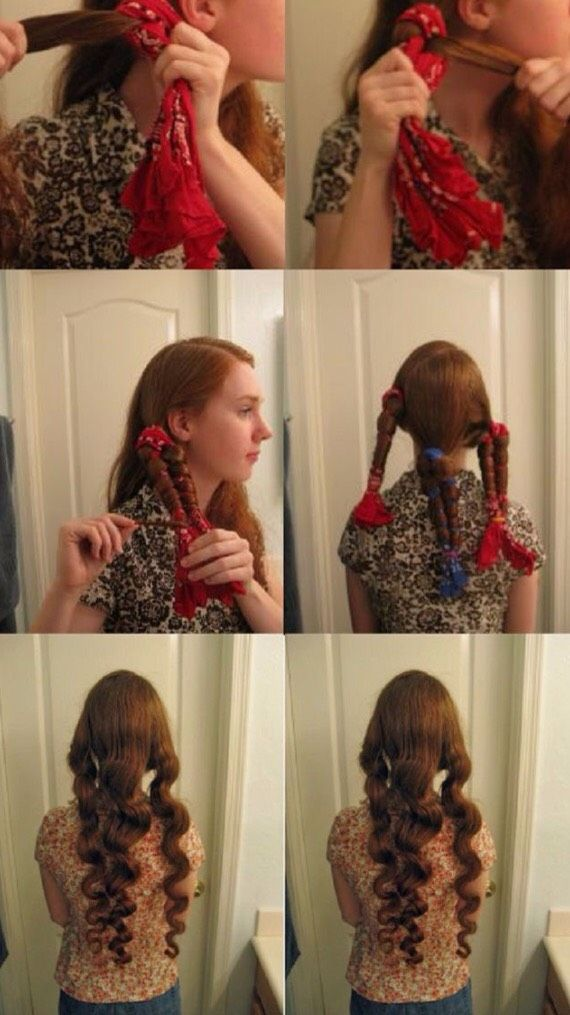 8 Easy Overnight Hairstyles Hair Pinterest Hair Curly Hair