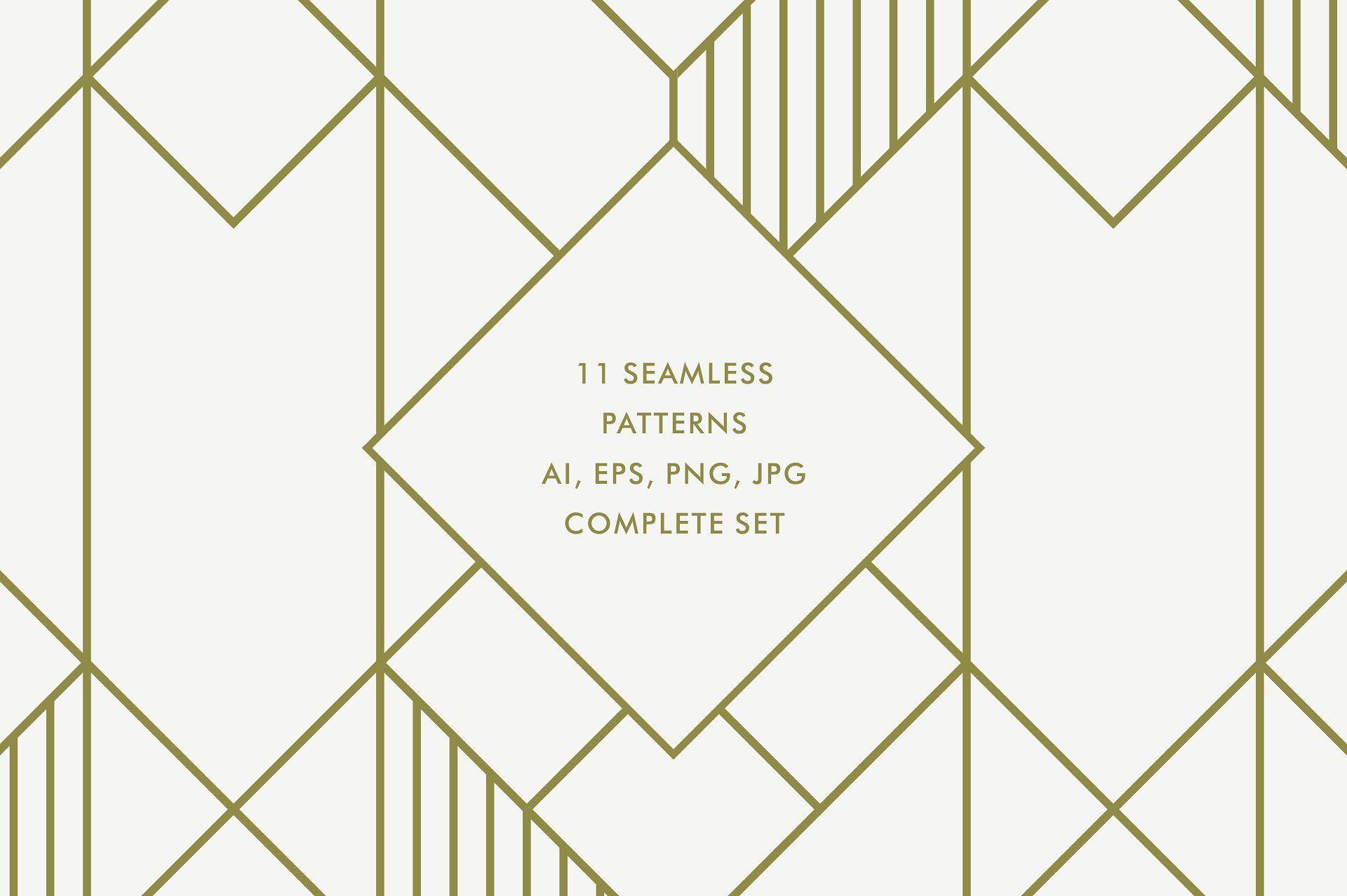 Geometric Art Deco Patterns V3 designDesignedeasyclassic