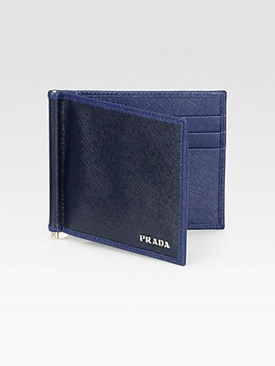 1c0706cd45d2 Prada - Saffiano Leather Money Clip Wallet - Saks.com | Leather ...