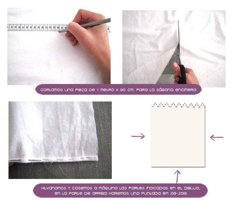 sabanas moises DIY 5 Cómo hacer un juego de sábanas para moisés o cochecito #DIY