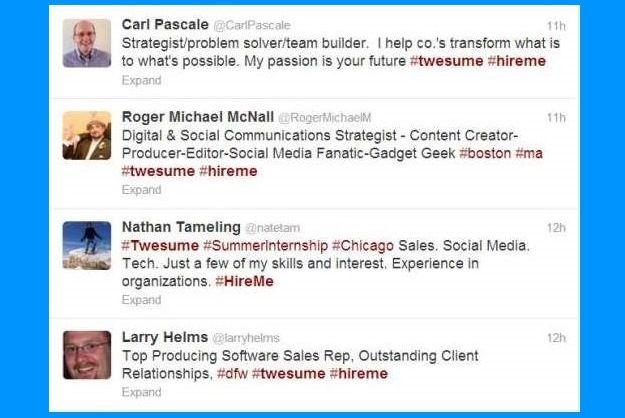 Twitter Resumes Are Taking Over The Social Network Social Communication Job Seeking Resume