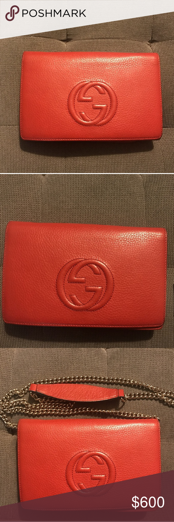5439fad840d Gucci soho clutch with chain good condition used gucci bags mini bags png  580x1740 Gucci soho