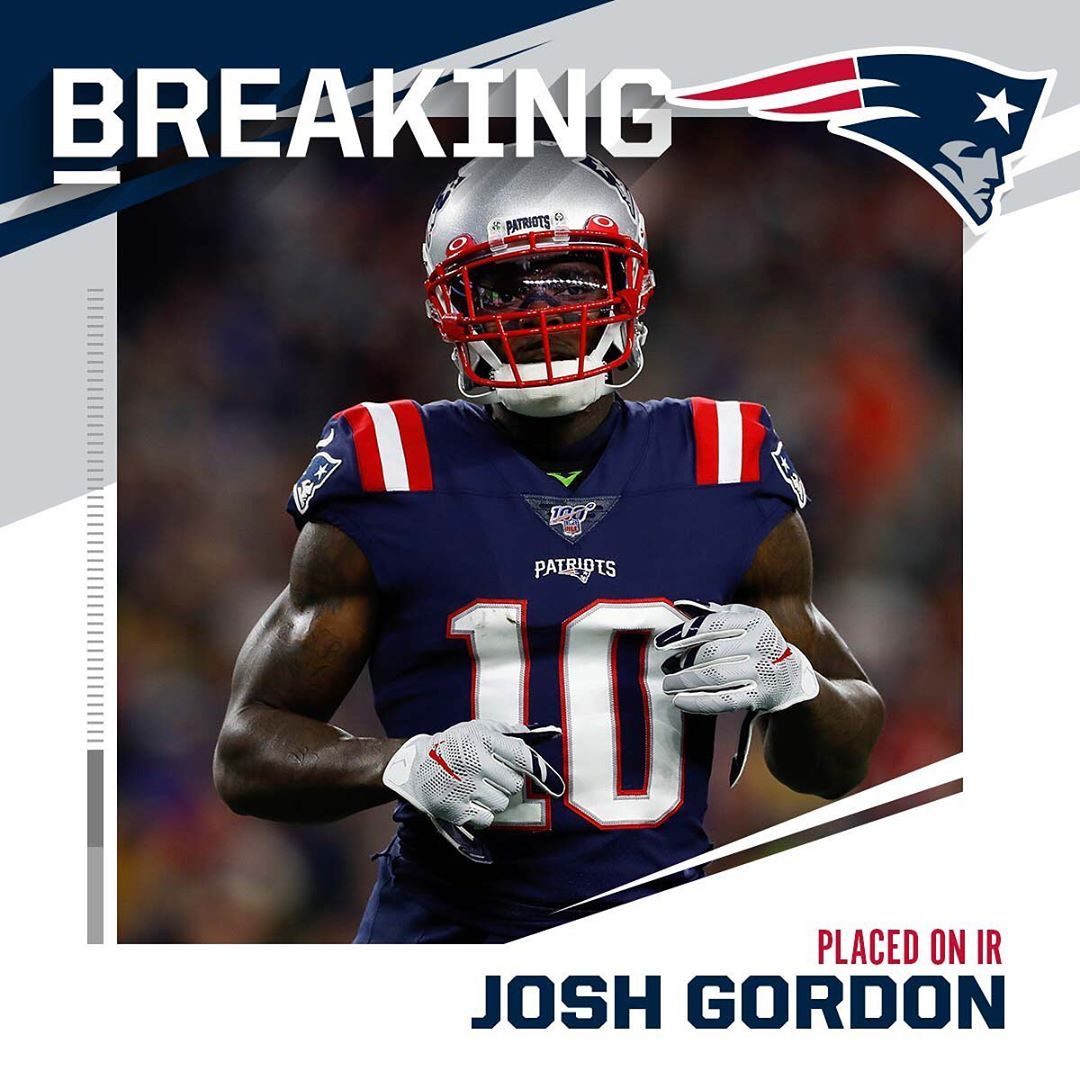Nfl On Instagram Patriots Place Wr Josh Gordon On Ir Knee Aaron M Sprecher Ap Josh Gordon Nfl New England Patriots Nfl Patriots