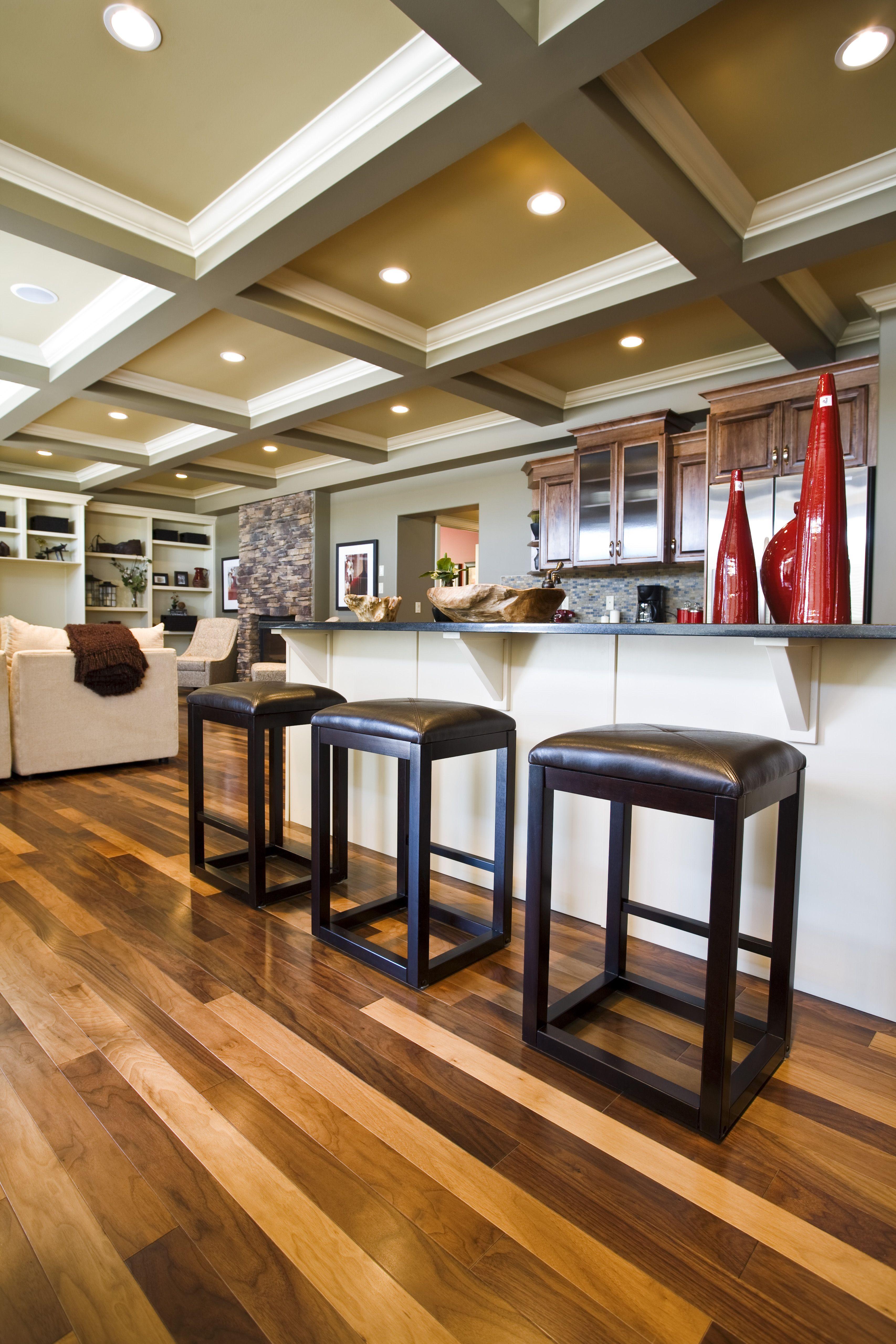 Auburn Show home, Edmonton Living room wood floor
