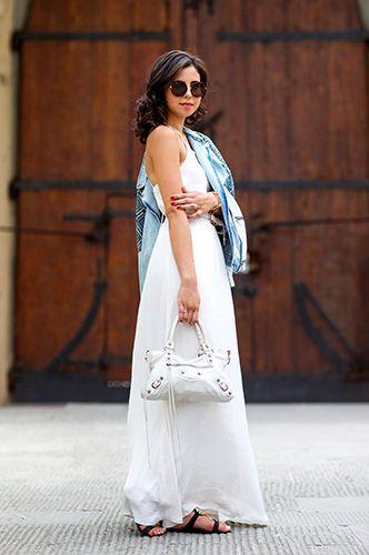 Streetstyles Damen | Modestil, Weiße lange kleider, Mode