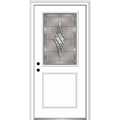 Verona Home Design Fibreglass Smooth 1 2 Lite 1 Panel Single Entry
