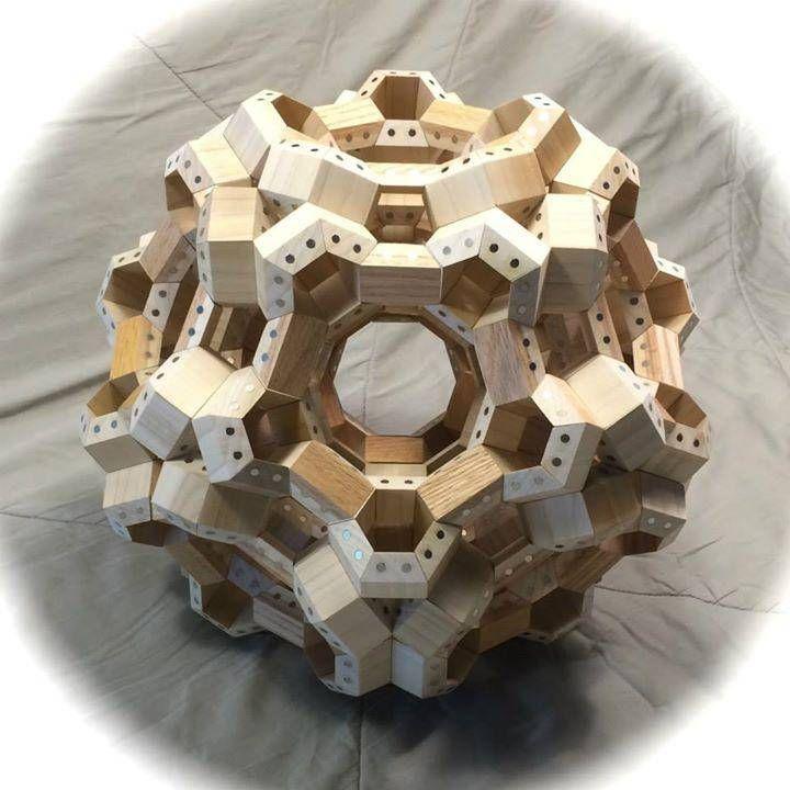 Kickstarting Facets, a cool granddad's magnetic, geometric wooden building blocks