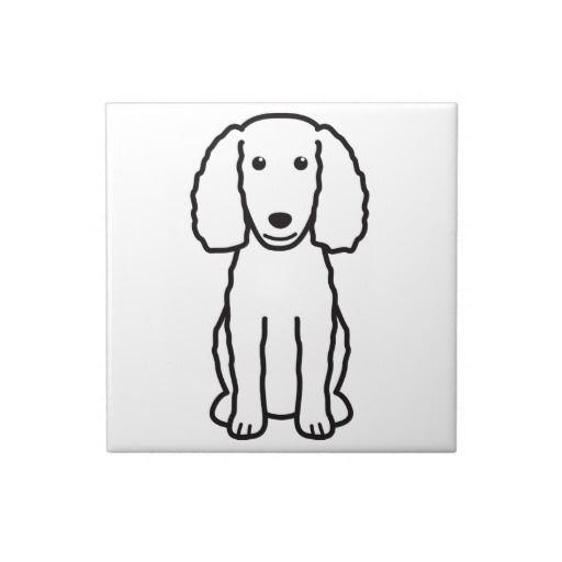American Water Spaniel Dog Cartoon Tiles