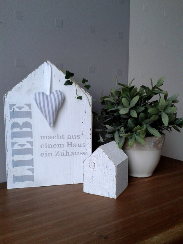 Deko-Objekte - pfeifers: Holzhäuschen - Liebe - ein Designerstück von pfeifers bei DaWanda #weihnachtsmarktideenverkauf