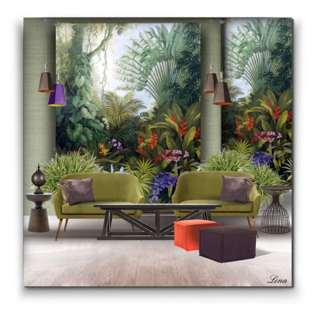 """""""Jungle flowers Boho style"""" by lenadecor ❤ liked on Polyvore featuring interior, interiors, interior design, home, home decor, interior decorating, Ballard Designs, nOir, Safavieh and DesignHeure"""