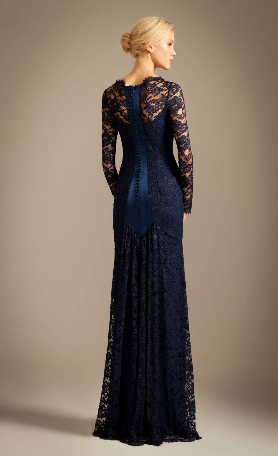 Long Cleo Lace Dress | Lace Evening Dress | Temperley London ...