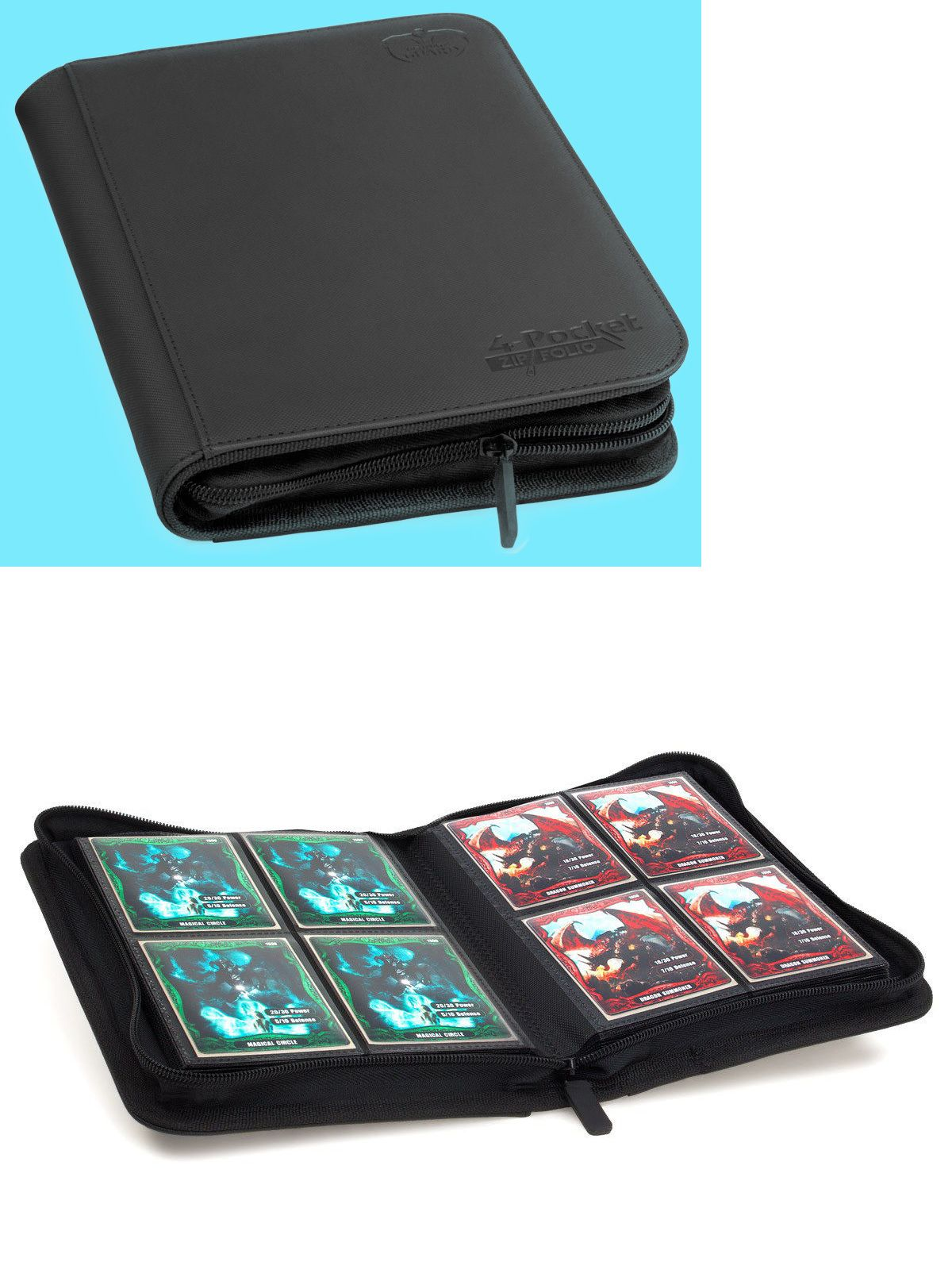 CCG Albums and Pages 183465 Ultimate Guard Black 4 Pocket