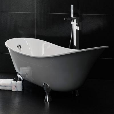 Apollo 1750mm No Tap Hole Freestanding Slipper Bath Inc Feet