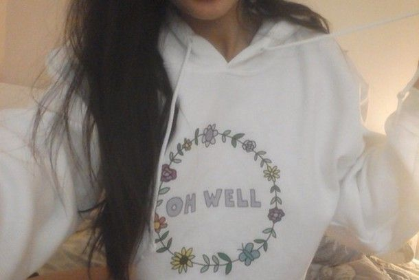 Girl In Hoodie Tumblr hoodies for girls tumblr with sweater: oh well ...
