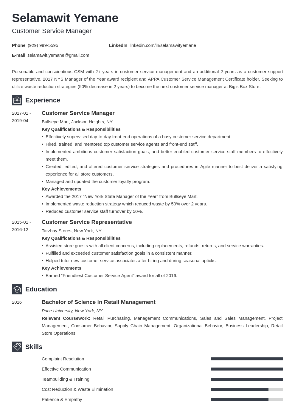 customer service manager resume example template newcast