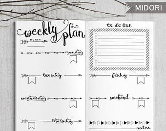 Printable Daily Bullet Journal Inserts Midori Daily Spreadsheet Printable Midori Traveler S Notebook Daily Planner Inserts Pdf File Today Pin In 2020 Printable Planner Bullet Journal Inserts Daily Bullet Journal