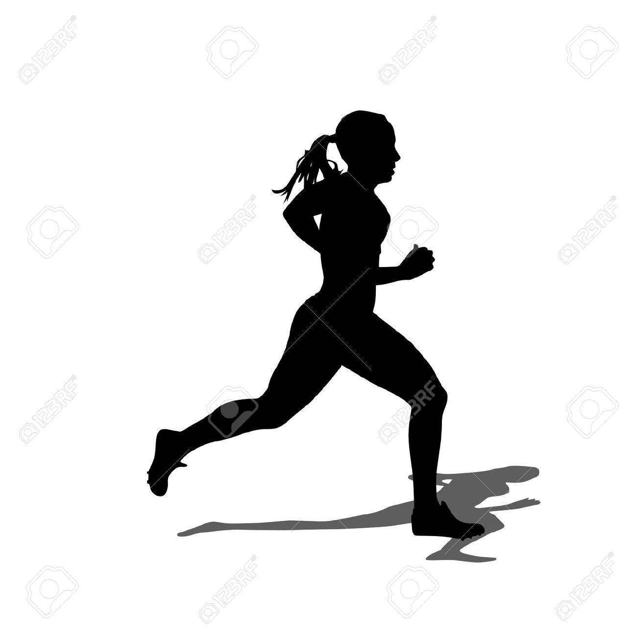 Marathon Runner Silhouette Images Stock Pictures Royalty Free