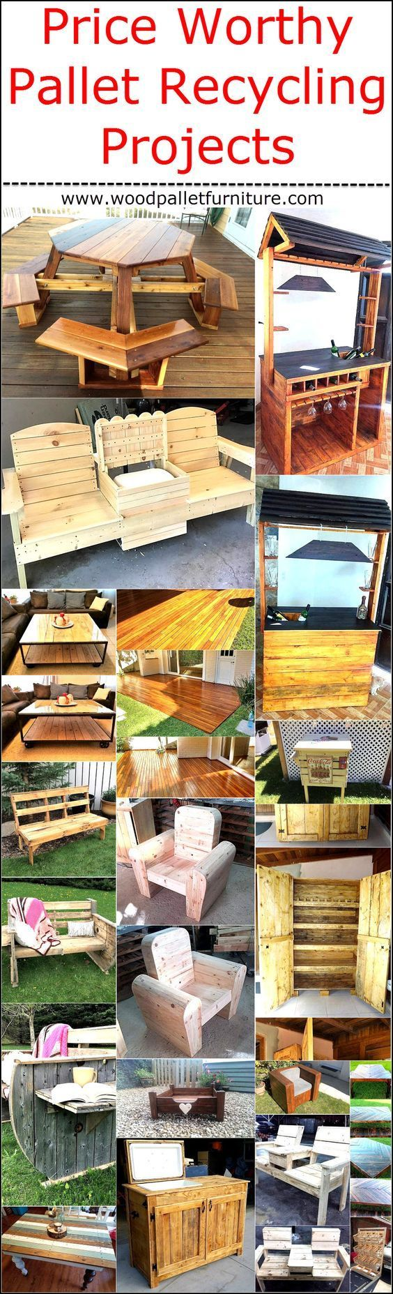 Price Worthy Pallet Recycling Projects | Wooden pallet ...