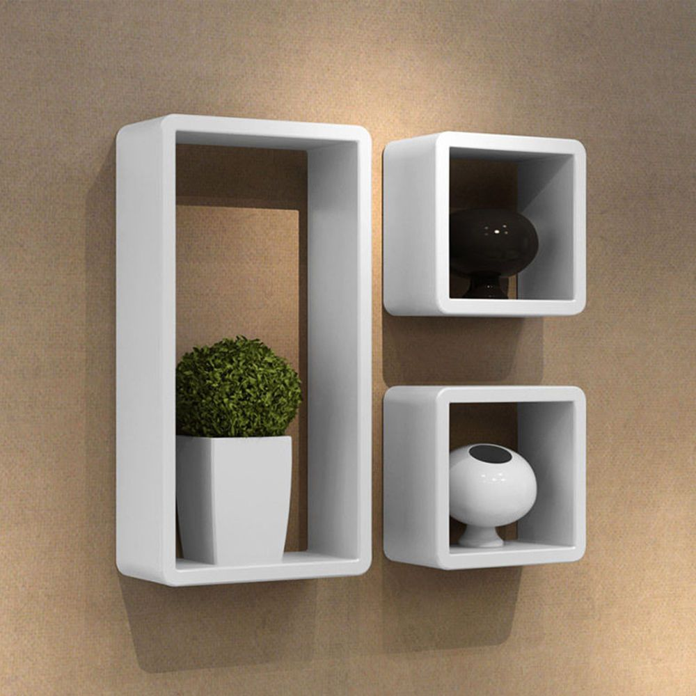 2 X Square Small Cube Shelves 1