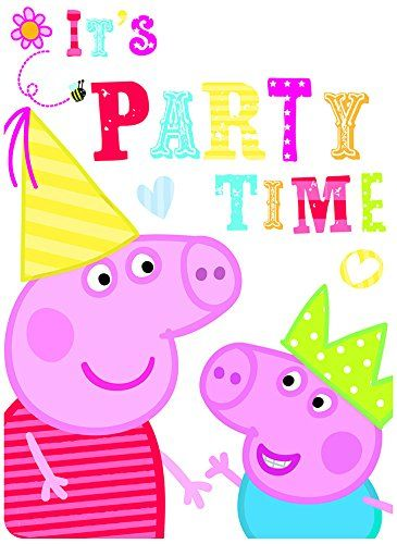 6 Peppa Pig Red Birthday Party Invitations Invites Plus Envelopes 2015 Amazon Top Rated Cards Toy