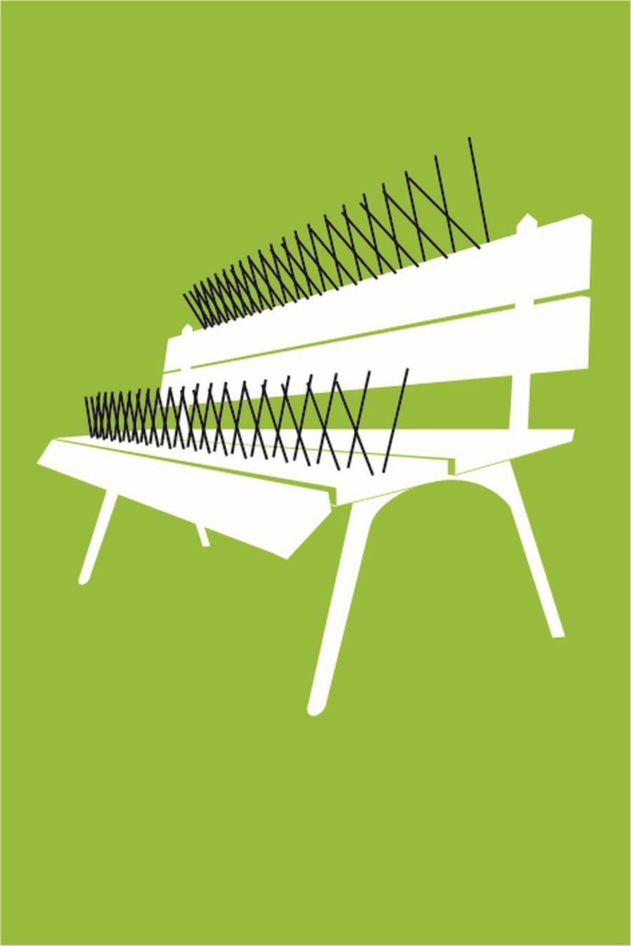 Zwycięzki plakat 'Ławka' - Adrian Gruszecki